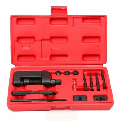 13pcs Motorcycle/ATV Chain Cutter Breaker Riveting Rivet Tool Kits 3 Pin Sizes