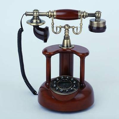 * New European Style Resin + Solid wood Antique Telephone.