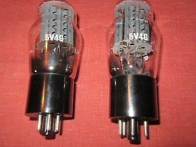 Tube X 2 English  Vintage Nos 5V4G Rectifiers. Valve Tube Audio Amplifier