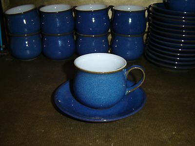 denby imperial blue small coffee espresso cup and saucer