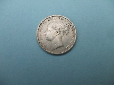 1885 Silver Victorian Shilling, Nice Grade Coin   Light Wear ,fill A Date Gap,.