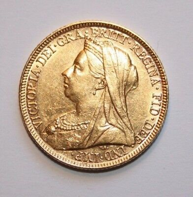 Full Gold Sovereign - Victoria Old Head 1897 -Melbourne Mint Very Fine condition