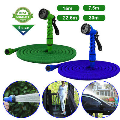Expanding Expandable Flexible Garden Water Hose Pipe TOOL with Spray Nozzle Gun