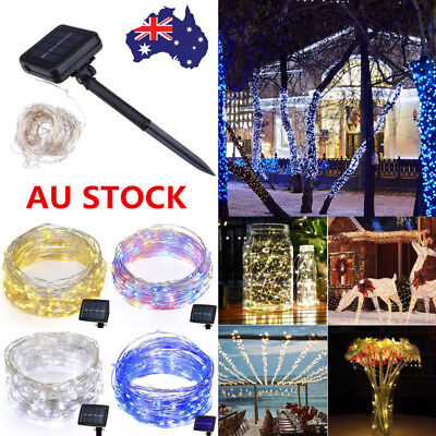 100/200 LEDs Solar Powered String Fairy Light Lamp Outdoor Xmas Party Waterproof