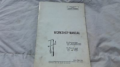 Moto Guzzi V35 V75 Factory Workshop Manual Genuine Oem Part From Era