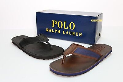 d5d290cd7c782d New In Box Polo Ralph Lauren Men Big Pony SULLIVAN Leather Flip-Flops  Slippers