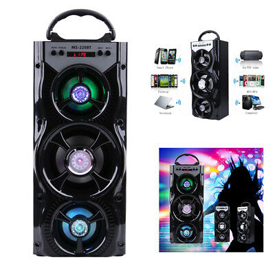 Portable Wireless Bluetooth Stereo Speaker Super Bass Indoor USB/AUX/TF/FM Radio