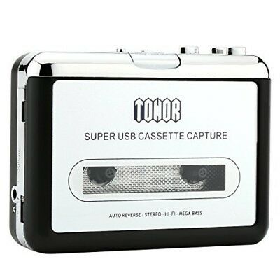 Tonor Portable Cassette Player Tape Convertor to MP3 via USB Compatible with Lap