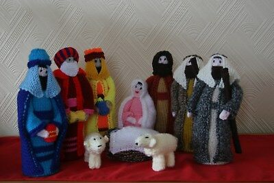 Hand Knitted Christmas Nativity Set