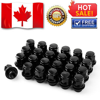 24 Black OEM Mag Lug Nuts 12x1.5 For Toyota 4Runner Corolla Prius Tacoma Yaris
