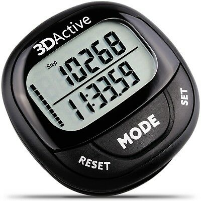 3DActive 3D Pedometer PDA-100| Best Pedometer for Walking with 30-Days Memory. A