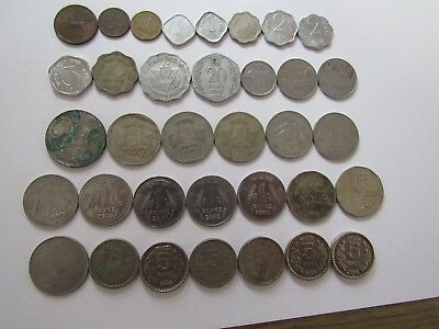 Lot of 35 Different Old India Coins - 1951 to 2003 - Circulated & Uncirculated