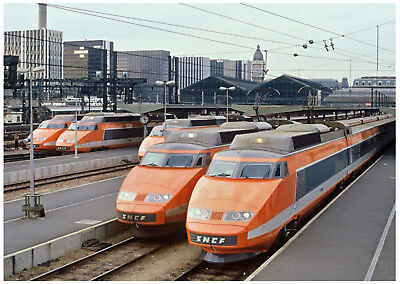 Picture Postcard Tgv Sncf French Highspeed Train Old 1987 North-South France New