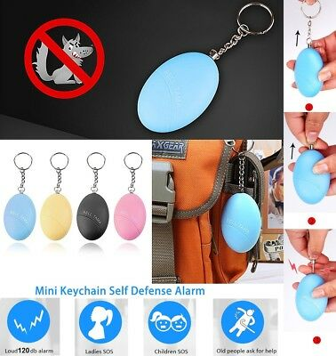 Emergency Self Defense Keychain Personal Safty Alarm Siren Survival Whistle UK