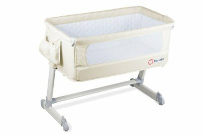 BABY Crib Bedside Next to Me Theo Beige Mattress Mosquito Cot bed  From Birth