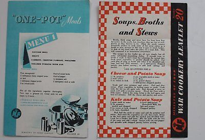 2 Ministry Of Food Leaflets   Ww2+ Home Front . ++