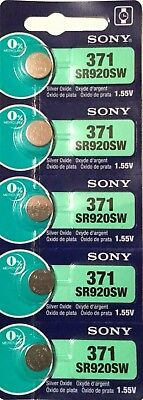 5 New SONY SR920SW Silver Oxide 1.55v Watch Batteries MADE in JAPAN Aussie Stock