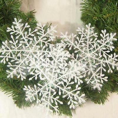 3pcs White Snowflake Christmas Tree Decor Ornaments Holiday Party Decoration