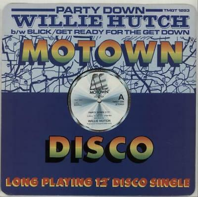 "Party Down Willie Hutch UK 12"" vinyl single record (Maxi) TMGT1293 MOTOWN 1982"