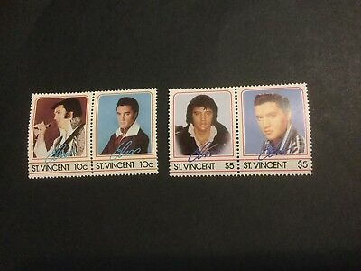 St Vincent Mint NH Elvis Presley Postage Stamps