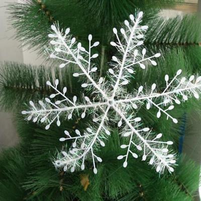3pcs Christmas Party Home Decoration New White Snowflake Ornaments Holiday Decor