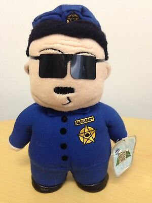 "South Park Officer Barbrady Plush/Soft Toy Approx 8"" (20cm) Retro 1998 Blue Tags"