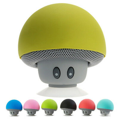 Waterproof Wireless Mini Bluetooth Mushroom Portable Stereo Speaker for iPhone L