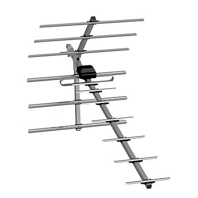 Ross Low Gain 14 Element Digital Tv Aerial Kit With Fixings Hd Loft Or Outdoor