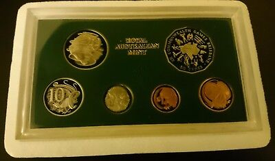 1982 Commonwealth Games Year - 6 Coin Proof Set With Foams And Certs.