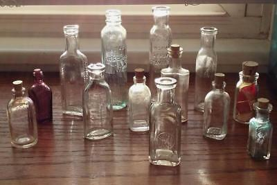 AnTiQuE ViNTaGe Small and Miniature Bottles ~ Medicine Bitters ~ Lot of 13