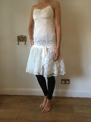 Vintage 1980's Wedding Dress/cocktail Dress