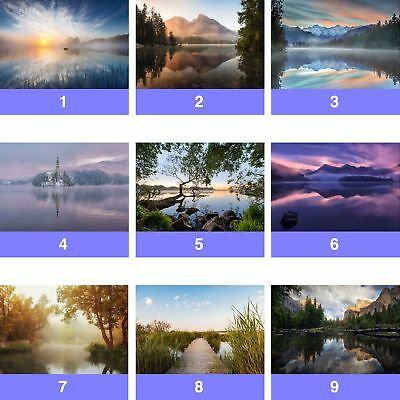 Lake Nature Landscape Lakes Wall Mural Photo Wallpaper LK-WM