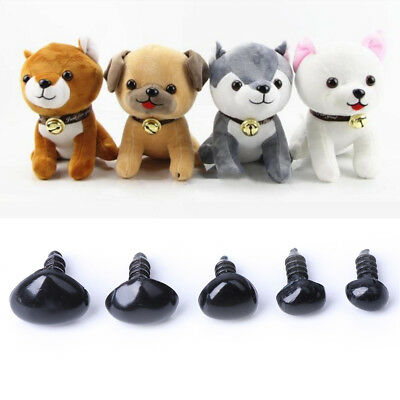 100pcs 5 Sizes Black Plastic Safety Nose Triangle For DIY Doll Teddy Puppet Toy
