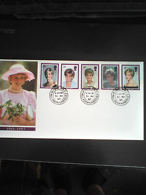 Pre Dated On 31/8/97 Diana Princess Of Wales Memorial First Day Cover 3/2/98