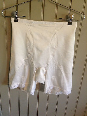 Classic!! Vintage Sear white xl Girdle with 4 garters & grips on legs