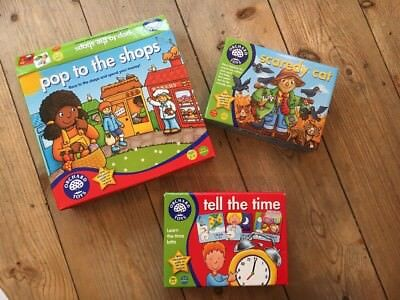 Orchard Games Bundle Tell The Time Pop To Shops Scaredy Cat Plus Free Pic Pairs