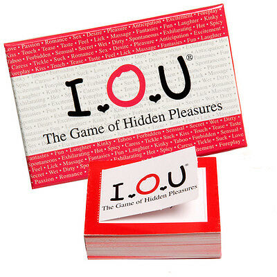 IOU! The Game of Hidden Pleasures SEXY PULL TABS CARD GAME ADULT FUN GIFT