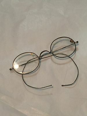 Small Antique Vintage French Reading Glasses - Metal Framed