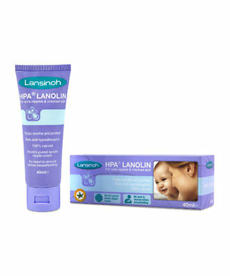 Lansinoh HPA Lanolin breastfeeding cream for sore nipples & cracked skin 40ml