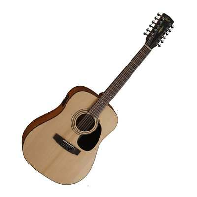 Cort AD810-12E 12-String Electro Acoustic Guitar in Natural Finish - Brand New!