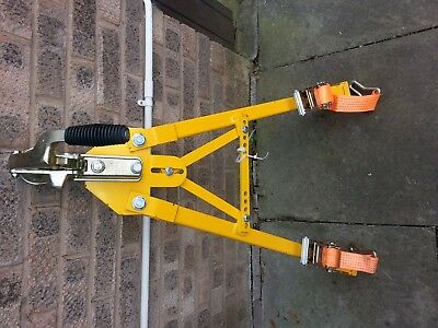 Car Recovery A Frame Towing Dolly Trailer + Magnetic Lights Proper Hitch