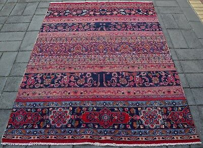 Persian Hand Knotted Vintage Patchwork Rug ( 230 x 175 CM ) Afghan Oriental Rugs