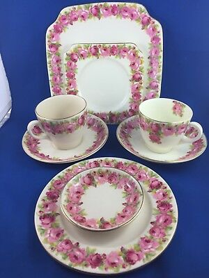 Vintage Royal Doulton Baby Rose  8 Pce Lot!