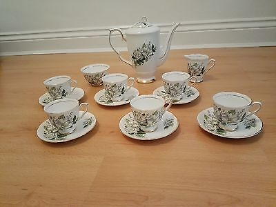 Rare Royal Stafford Bone China 'Camellia' 15 piece Coffee Set