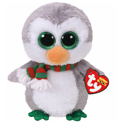 TY Beanie Boo Plush - Chilly the Christmas Penguin 15cm