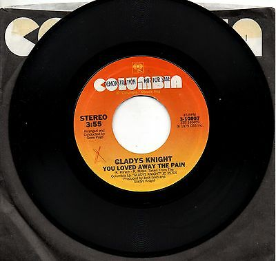GLADYS KNIGHT disco 45 giri MADE in USA You loved away the pain 1979
