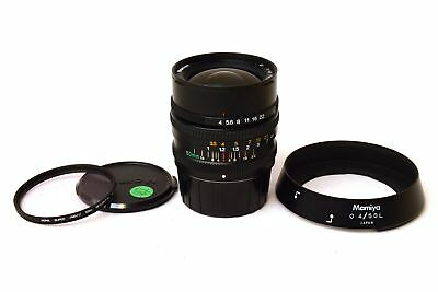 Mamiya 6 G 50mm F4 L 4/50 with covers e lens hood. Perfect