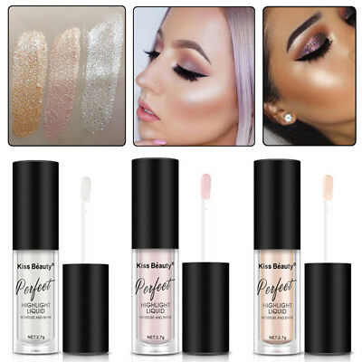 3 Colors Makeup Highlighter Liquid Cosmetic Lady Face Contour Brightener Shimmer