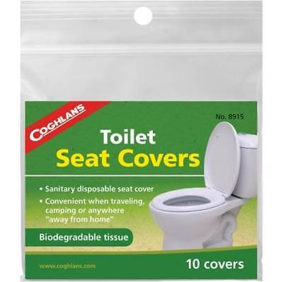 Coghlan's Sanitary Disposable Toilet Seat Cover Camping Hygienic Pack of 10