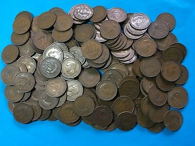 GB  George V King Head Half Penny  X200 Pieces